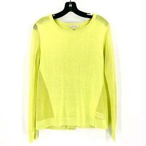 CAbi 199 neon split back loose knit pullover